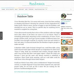 How to Make Rainbow Table - Craftspiration
