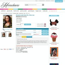 Craftways Exclusive Latch Hook Kits - Mona Lisa Latch Hook Kit - Herrschners