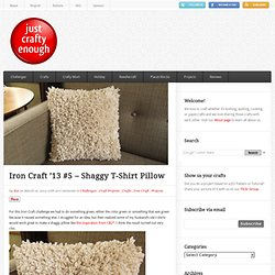 Iron Craft '13 #5 – Shaggy T-Shirt Pillow