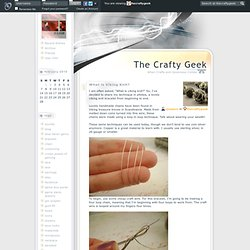 The Crafty Geek - What is Viking Knit?