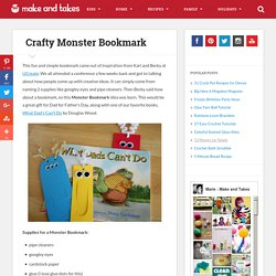 Crafty Monster Bookmark Perfect for Father's Day