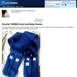 crafty_tardis: Crochet TARDIS Scarf and Baby Daleks