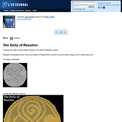 crafty_tardis: The Doily of Rassilon