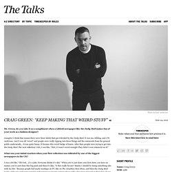 Craig Green Interview