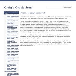 Craig's Oracle Stuff