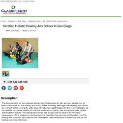 San Diego Certified Holistic Healing Arts School In San Diego Craigslist California