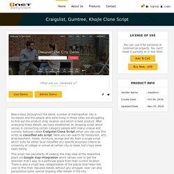 craigslist, Gumtree, Khojle Clone Script