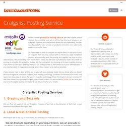 Craigslist Posting Service Needed