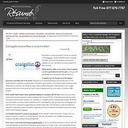Is Craigslist A Good Place to Look for Jobs? | Professional Resume Services
