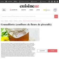 Recette Cramaillotte (confiture de fleurs de pissenlit)