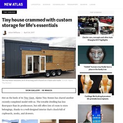Tiny house crammed with custom storage for life's essentials