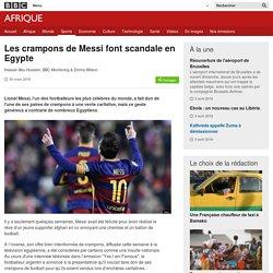Les crampons de Messi font scandale en Egypte - BBC Afrique