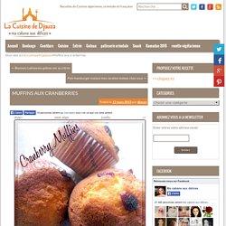 Muffins aux cranberries