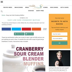 Cranberry Sour Cream Muffins