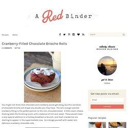 Cranberry-Filled Chocolate Brioche Rolls