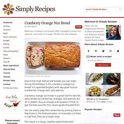 Cranberry Nut Bread Recipe