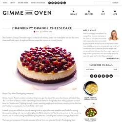 Cranberry Orange Cheesecake Recipe