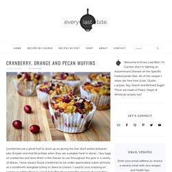 Cranberry, Orange & Pecan Muffins