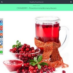 CRANBERRY - Prevents or remedies many diseases - Healthy Food Secret