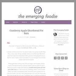Cranberry Apple Shortbread Pie Bars