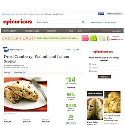 Dried Cranberry, Walnut, and Lemon Scones Recipe at Epicurious