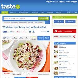Wild Rice, Cranberry And Walnut Salad Recipe