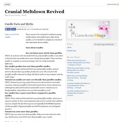 Candle Facts and Myths - Cranial Meltdown Revived