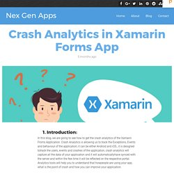 Crash Analytics in Xamarin Forms App