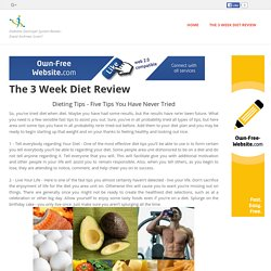 Crash Collective - The 3 Week Diet Review
