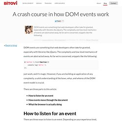 A crash course in how DOM events work - Jupiter JavaScript Consulting