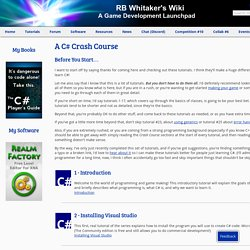A C# Crash Course - RB Whitaker's Wiki