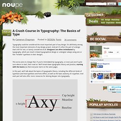 A Crash Course in Typography: The Basics of Type - Noupe ...