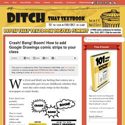 Crash! Bang! Boom! How to add Google Drawings comic strips to your class