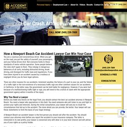 Car Crash Lawyer Newport Beach - Newport Beach Car Accident Lawyer