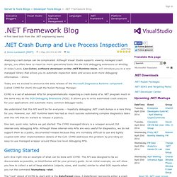 .NET Crash Dump and Live Process Inspection - .NET Blog