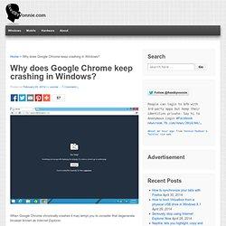Why does Google Chrome keep crashing in Windows?