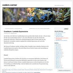 Crashkurs: Lambda Expressions