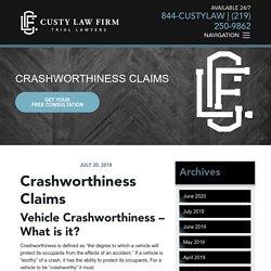 Crashworthiness Claims