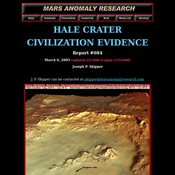 Hale Crater Civilization Evidence