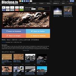 MARS HALE CRATER CIVILIZATION EVIDENCE Photo Image
