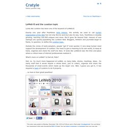 Blog Archive » LeWeb10 and the curation topic