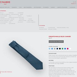 Cravate - Maille Bleu Canard - CINABRE Paris
