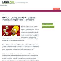 Craving, anxiété et dépression: impact du sevrage d'alcool selon le sexe