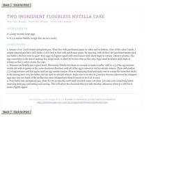 A San Diego food blog » 2 Ingredient Flourless Nutella Cake » Print