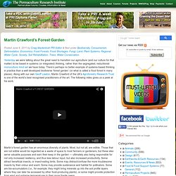 Martin Crawford's Forest Garden Permaculture Forums, Permaculture Courses, Permaculture Information & News