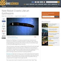 New Robot Crawls Like an Earthworm