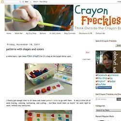 Crayon Freckles: patterns with shapes and colors