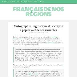 Crayon (de bois/gris) ou crayon de/à papier ? – Français de nos régions