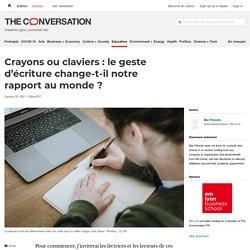 Crayons ou claviers: legeste d'écriture change-t-il notre rapport aumonde?