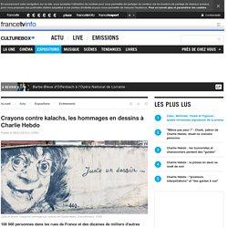 Crayons contre kalachs, les hommages en dessins à Charlie Hebdo